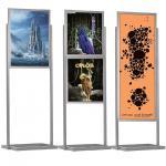 ECO SILVER kétoldalas plakáttartó állvány