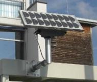 LED világítás napelem panellel minden kültéri dohányzókabinhoz, szállítási költség nélkül