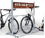 SECURITY STATION biztonságos kerékpártároló reklámtáblával