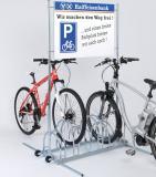 BW 5000 kétoldalas kerékpártároló reklámtáblával