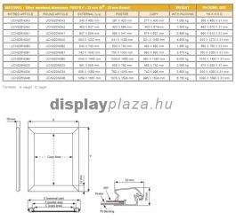 Softline plakáttartó 32 mm derékszögű sarok