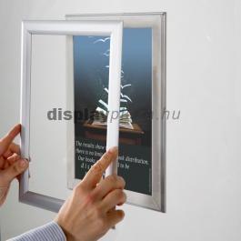Window Frame kétoldalas kirakatüvegre helyezhető plakáttartó 25mm derékszögű sarok