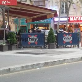 CAFE BARRIER Kordonoszlop