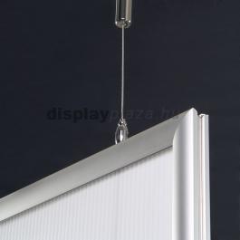 Streamline Double plakáttartó 25 mm derékszögű sarok kétoldalas