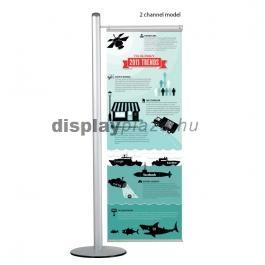 FREE STANDING bannertartó állvány