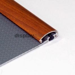 Streamline fa hatású plakáttartó 25 mm derékszögű sarok