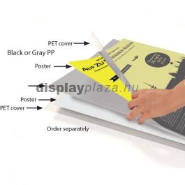 METAL ECO BLACK kétoldalas plakáttartó állvány
