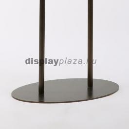 METAL OVAL kétoldalas plakáttartó állvány - matt ezüst