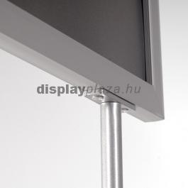 OVAL kétoldalas plakáttartó állvány - matt ezüst