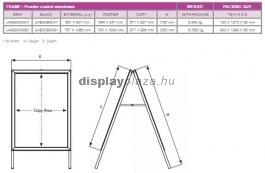 SLIDE IN becsúsztatható megállító tábla 40 mm derékszögű sarokkal