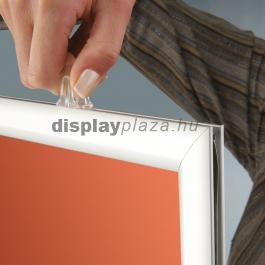 Slide-in Frame kétoldalas becsúsztatható plakátkeret 25mm derékszögű sarok - álló