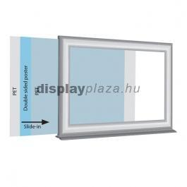 Info topper kétoldalas plakátkeret 25mm derékszögű sarok
