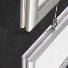 Streamline Double plakáttartó 25 mm lekerekített sarok kétoldalas