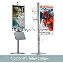PYRAMID DOUBLE kétoldalas plakáttartó állvány