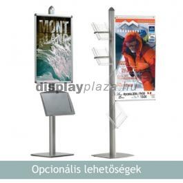 PYRAMID SINGLE LFD egyoldalas plakáttartó két szórólaptartóval