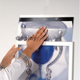 OVAL kétoldalas plakáttartó állvány - fekete