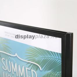 METAL ECO SILVER kétoldalas plakáttartó állvány