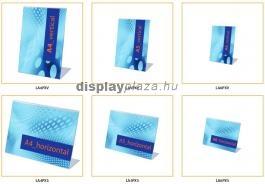 CLASSIC L alakú laptartó / menütartó (álló)