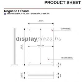 MAGNETIC T alakú mágneses menütartó / laptartó (álló)