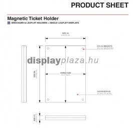 MAGNETIC T alakú mágneses menütartó / laptartó (fekvő)