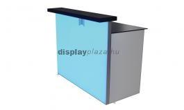 FF0114 világító kiállítási stand feszített textilkerettel, info pulttal