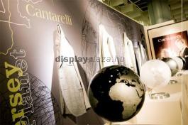 FF0116 promóciós háttérfal, sajtófal és kiállítási fal feszített textilkerettel és infopulttal