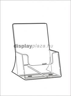 CLEARLINE 1XA5/A/EM asztali szórólaptartó, A5, extra mély