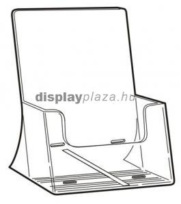 CLEARLINE 1XA4/A/EM asztali szórólaptartó, A4, extra mély