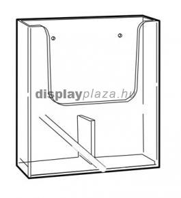 CLEARLINE 2XLA4/F fali szórólaptartó, 2x1/3 A4, osztott
