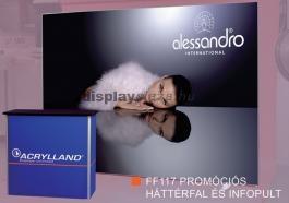 FF0115 promóciós háttérfal és infopult
