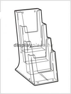 CLEARLINE 4XLA4/A  asztali szórólaptartó, 4x1/3 A4 (4xLA4)