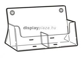 CLEARLINE 2XLA4/A asztali szórólaptartó, 2x1/3 A4, osztott