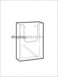 CLEARLINE 1XLA4/F fali szórólaptartó, 1/3 A4 (LA4)