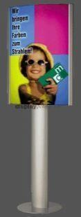 STANDBY BICOLORA PANORAMA íves világító plakáttartó állvány kétoldalas