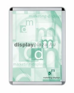 Softline plakáttartó 32 mm lekerekített sarok acél hátlap A0