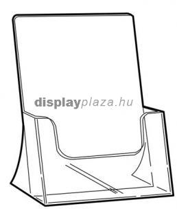 CLEARLINE 1XA4/A asztali szórólaptartó, A4