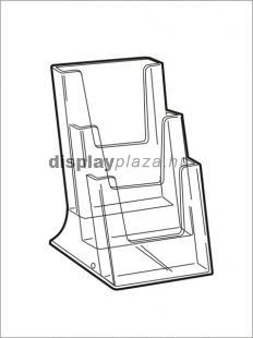 CLEARLINE 3XLA4/A asztali szórólaptartó, 3x1/3 A4 (3xLA4)