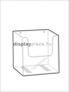 CLEARLINE 1XA4/F/EM fali szórólaptartó A4, extra mély