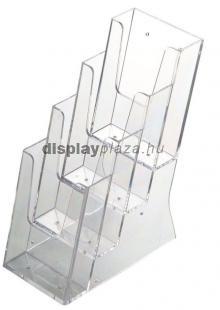 ECOLINE 4XLA4/A asztali szórólaptartó, 4x1/3 A4 (4xLA4)