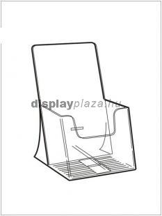 CLEARLINE 1XLA4/A/EM asztali szórólaptartó, 1/3 A4 (LA4), extra mély