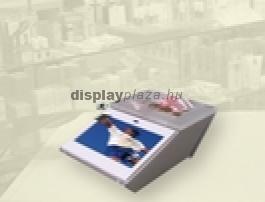LCD Monitor Cashier Pénzvisszaadó Tálcával Egybeépítve