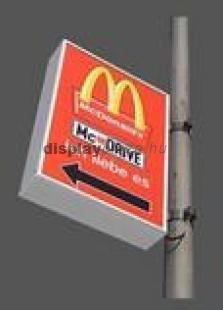 OUTDOOR kültéri világító plakáttartó doboz kétoldalas
