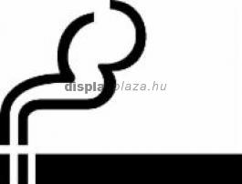 SMOKING dohányzásra kijelölt helyet jelölő öntapadós címke, szállítási költség nélkül