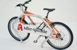 CORNER PROMO kerékpár-rögzítő keret reklámtáblával