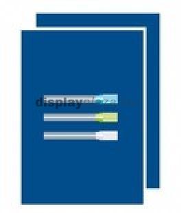 Műanyag tábla, kék színű, filctollal írható A1