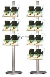 PYRAMID SINGLE PL egyoldalas prospektustartó állvány plexi tartókkal