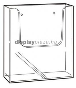 CLEARLINE 1XA4/F fali szórólaptartó A4