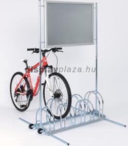 CW 5000 NAUTIC kétoldalas kerékpártároló vízálló plakátkerettel