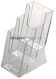 ECOLINE 3XLA4/A asztali szórólaptartó, 3x1/3 A4 (3xLA4)