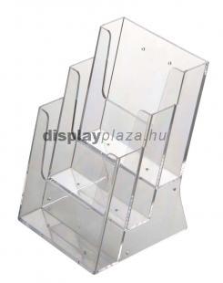 ECOLINE 3XA4/A asztali szórólaptartó, 3XA4